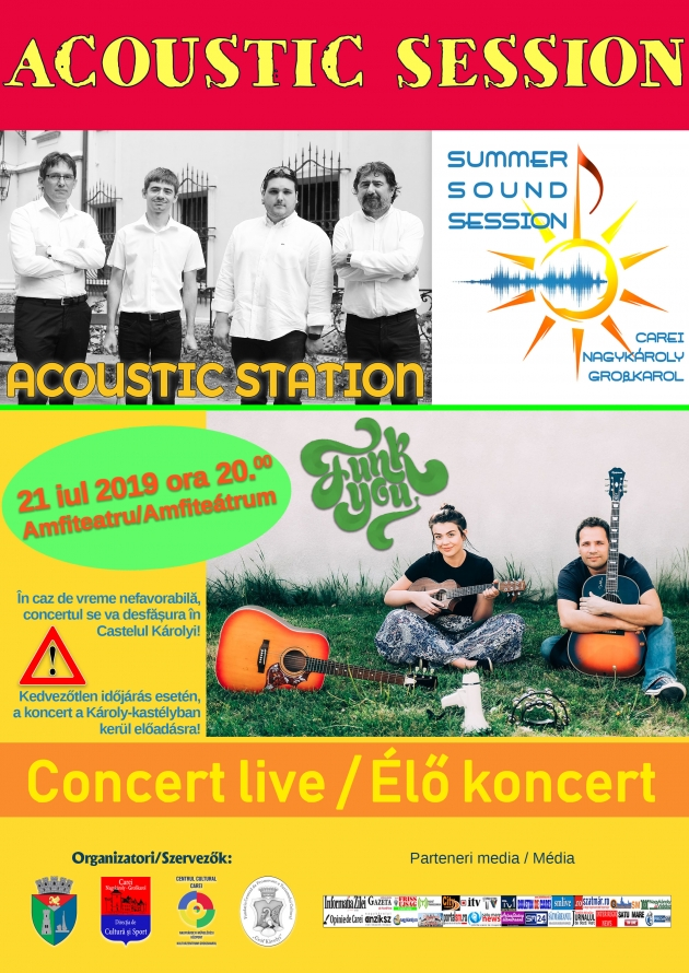 Acoustic Session - al treilea eveniment din cadrul Summer Sound Sessions, la Carei
